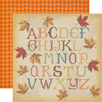 Carta Bella Paper - Autumn Collection - 12 x 12 Double Sided Paper - Fall Stitching
