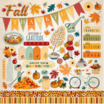 Carta Bella Paper - Autumn Collection - 12 x 12 Cardstock Stickers - Elements