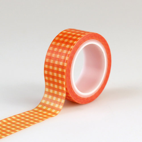 Carta Bella Paper - Autumn Collection - Decorative Tape - Orange Gingham