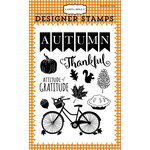 Carta Bella Paper - Autumn Collection - Clear Acrylic Stamps - Thankful Autumn