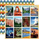 Carta Bella Paper - Are We There Yet Collection - 12 x 12 Double Sided Paper - National Parks