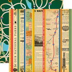 Carta Bella Paper - Are We There Yet Collection - 12 x 12 Double Sided Paper - Get On The Road
