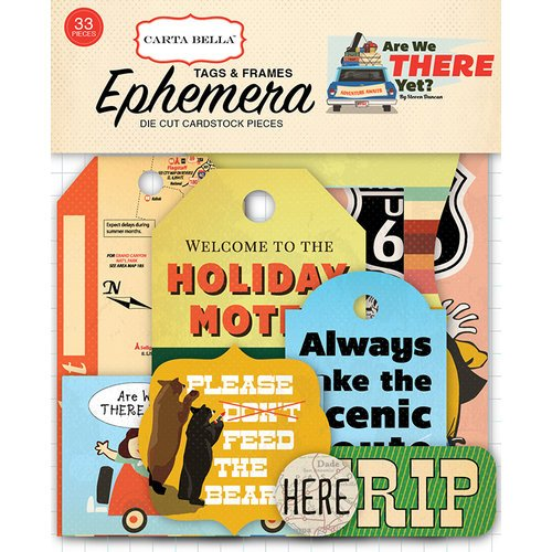 Carta Bella Paper - Are We There Yet Collection - Ephemera - Frames and Tags