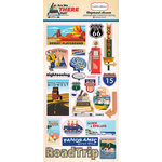 Carta Bella Paper - Are We There Yet Collection - Chipboard Stickers