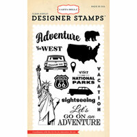 Carta Bella Paper - Are We There Yet Collection - Clear Photopolymer Stamps - Go On An Adventure