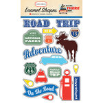 Carta Bella Paper - Are We There Yet Collection - Enamel Shapes