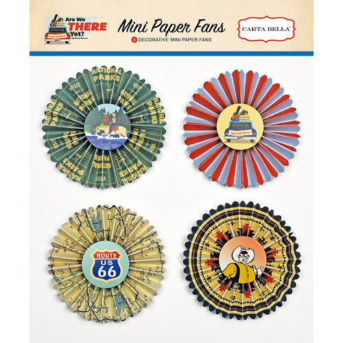 Carta Bella Paper - Are We There Yet Collection - Mini Paper Fans