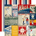 Carta Bella Paper - Baseball Collection - 12 x 12 Double Sided Paper - Multi Journaling Cards