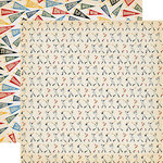 Carta Bella Paper - Baseball Collection - 12 x 12 Double Sided Paper - Batter Up