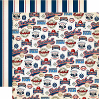 Carta Bella Paper - Baseball Collection - 12 x 12 Double Sided Paper - Number One Fan