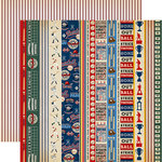 Carta Bella Paper - Baseball Collection - 12 x 12 Double Sided Paper - Border Strips