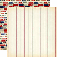 Carta Bella Paper - Baseball Collection - 12 x 12 Double Sided Paper - Baseball Thread