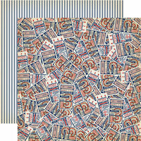 Carta Bella Paper - Baseball Collection - 12 x 12 Double Sided Paper - Baseball Tickets