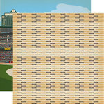 Carta Bella Paper - Baseball Collection - 12 x 12 Double Sided Paper - Hey Batter Batter