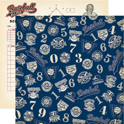 Carta Bella Paper - Baseball Collection - 12 x 12 Double Sided Paper - Baseball Championship