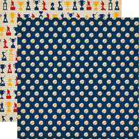 Carta Bella Paper - Baseball Collection - 12 x 12 Double Sided Paper - Play Ball