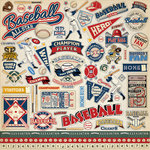 Carta Bella Paper - Baseball Collection - 12 x 12 Cardstock Stickers - Elements