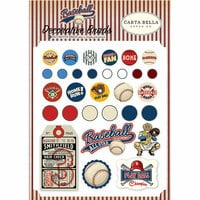 Carta Bella Paper - Baseball Collection - Decorative Brads