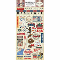 Carta Bella Paper - Baseball Collection - Chipboard Stickers - Accents