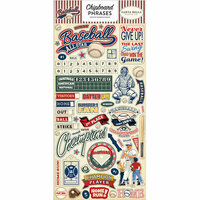 Carta Bella Paper - Baseball Collection - Chipboard Stickers - Phrases