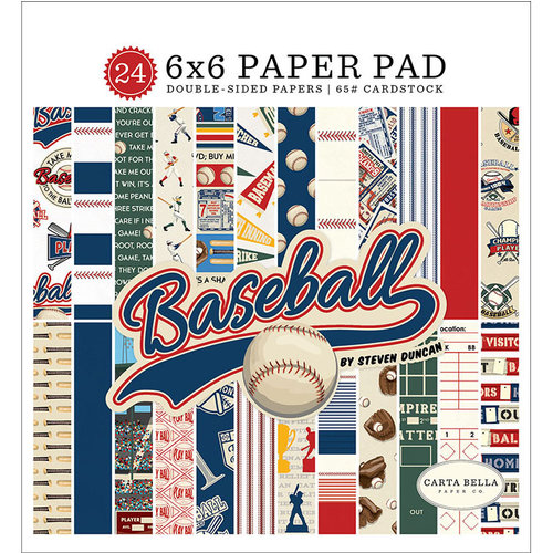 Carta Bella Paper - Baseball Collection - 6 x 6 Paper Pad