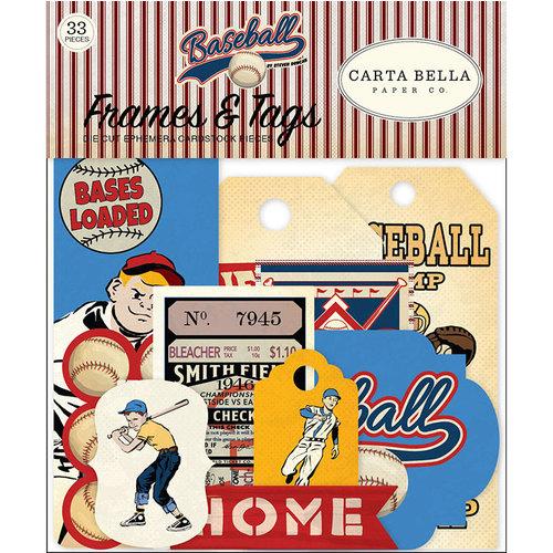 Carta Bella Paper - Baseball Collection - Ephemera - Frames and Tags