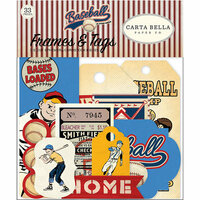 Carta Bella Paper - Baseball Collection - Ephemera - Frames and Tags