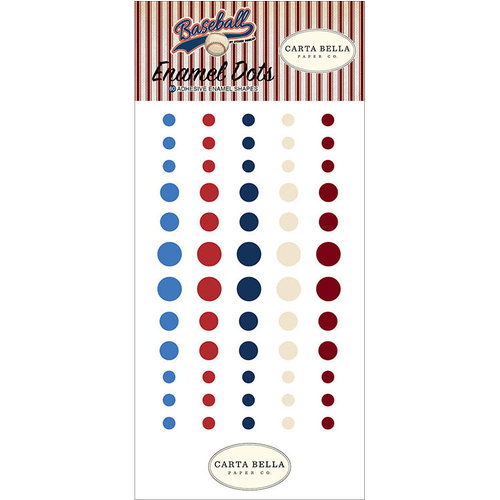 Carta Bella Paper - Baseball Collection - Enamel Dots
