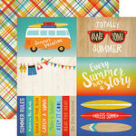Carta Bella Paper - Beach Day Collection - 12 x 12 Double Sided Paper - 4 x 6 Journaling Cards