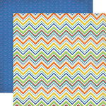 Carta Bella Paper - Beach Day Collection - 12 x 12 Double Sided Paper - Summer Chevron