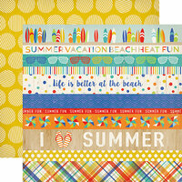 Carta Bella Paper - Beach Day Collection - 12 x 12 Double Sided Paper - Border Strips