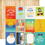 Carta Bella Paper - Beach Day Collection - 12 x 12 Double Sided Paper - 3 x 4 Journaling Cards