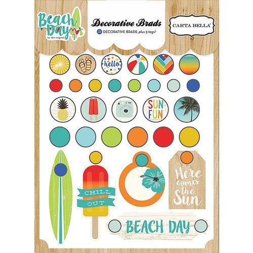 Carta Bella Paper - Beach Day Collection - Decorative Brads