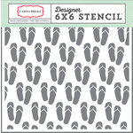 Carta Bella Paper - Beach Day Collection - 6 x 6 Stencil - Flip Flops