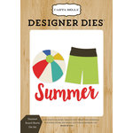 Carta Bella Paper - Beach Day Collection - Designer Dies - Summer Board Shorts