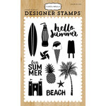 Carta Bella Paper - Beach Day Collection - Clear Acrylic Stamps - Summer Fun