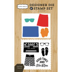 Carta Bella Paper - Beach Day Collection - Designer Die and Clear Acrylic Stamp Set - Good Times