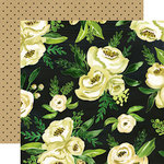 Carta Bella Paper - Botanical Garden Collection - 12 x 12 Double Sided Paper - White Rose - Bouquet