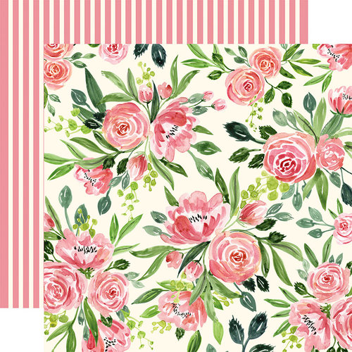 Carta Bella Paper - Botanical Garden Collection - 12 x 12 Double Sided Paper - Sweet Pea - Cluster