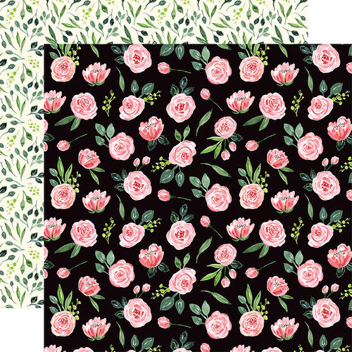 Carta Bella Paper - Botanical Garden Collection - 12 x 12 Double Sided Paper - Sweet Pea - Garland