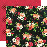 Carta Bella Paper - Botanical Garden Collection - 12 x 12 Double Sided Paper - Poppy - Petals