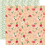 Carta Bella Paper - Botanical Garden Collection - 12 x 12 Double Sided Paper - Poppy - Bundle