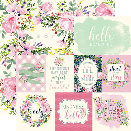 Carta Bella Paper - Botanical Garden Collection - 12 x 12 Double Sided Paper - Daisy - Journaling Cards