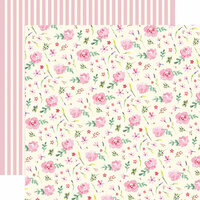 Carta Bella Paper - Botanical Garden Collection - 12 x 12 Double Sided Paper - Daisy - Wreath