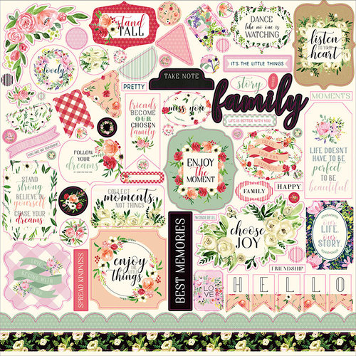Carta Bella Paper - Botanical Garden Collection - 12 x 12 Cardstock Stickers - Elements