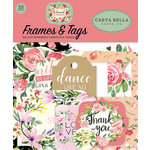 Carta Bella Paper - Botanical Garden Collection - Ephemera - Frames and Tags
