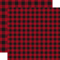 Carta Bella Paper - Buffalo Plaid No. 1 Collection - 12 x 12 Double Sided Paper - Red Buffalo Plaid