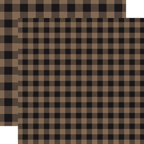 Carta Bella Paper - Buffalo Plaid No. 1 Collection - 12 x 12 Double Sided Paper - Tan Buffalo Plaid