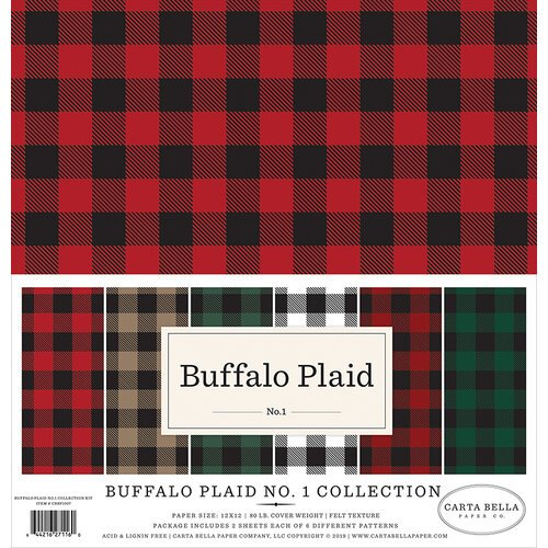 Carta Bella Paper - Buffalo Plaid No. 1 Collection - 12 x 12 Collection Kit