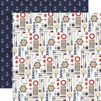 Carta Bella Paper - By The Sea Collection - 12 x 12 Double Sided Paper - Set Sail